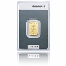 5 gramm Heraeus - Goldbarren 999,9/1000