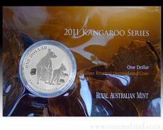 Blister Austral. Känguru 1 Unze 999/1000 Silber 2011