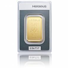20 gramm Heraeus - Goldbarren 999,9/1000