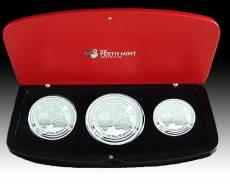 Australien Lunar Hase  3-Coin Set Silber (2011)