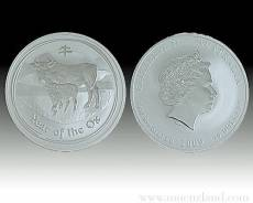 Australien Lunar Ochse 1/2 kg Silber 999/1000