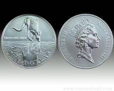 Austral. Känguruh 1 Unze 999/1000 Silber (1997)