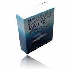 Mauis Dolphin 1 Oz Silber Proof + Box + Zertifikat (2010)