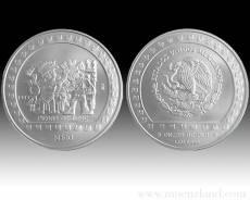 5 oz Piedra de Tizoc 999/1000 Silber (1992/93)