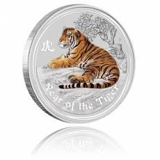 Australien Lunar Tiger 1/2oz Silber farbig (2010)