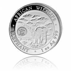 Somalia Elefant 1 Unze Silber Privy Mark Drache (2012)