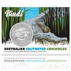 Blister Austral. Salzwasser-Krokodil 1 Unze 999/1000 Silber 2013
