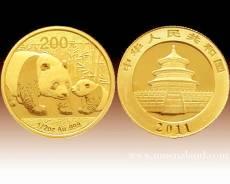 China Panda 1/2 Unze Gold (2011)