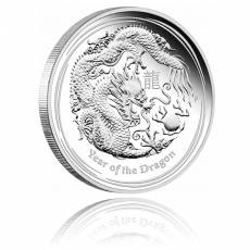 Austr. Lunar Drache 1 Kg Silber Polierte Platte 2012