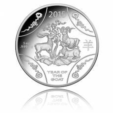 Australien 10$ Jahr der Ziege - 5 Oz. Silber PP 2015