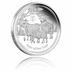 Austr. Lunar Ziege 1 oz Silber Polierte Platte 2015