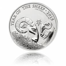 Lunar UK Jahr der Ziege 1 Oz. Silber 2015