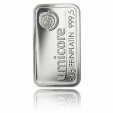 Platinbarren 50 gramm (verschiedene Hersteller)