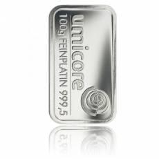 Platinbarren 100 gramm (verschiedene Hersteller)
