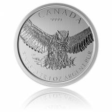 1 Unze Silber Canada Serie Birds of Prey 4. Motiv -  Great Horned Owl (Eule) 2015