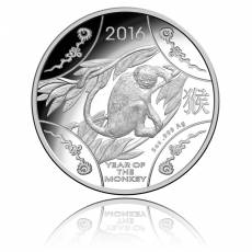 Australien 10$ Jahr des Affen - 5 Oz Silber PP 2016