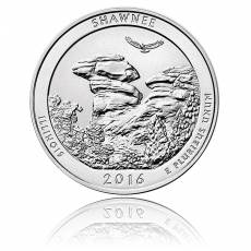 5 oz Silber US- Mint Illinois Shawnee (2016)
