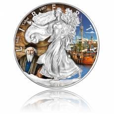 Silver Eagle Entdecker-Serie John Cabot 1 Unze Silber farbig (2016)