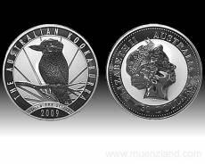 Austral. Kookaburra 1kg 999/1000 Silber 2009