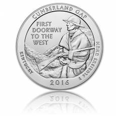 5 oz Silber US- Mint Kentucky - Cumberland Gap (2016)