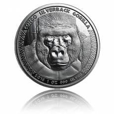 1 oz Silber Silberrückengorilla Kongo (2016)