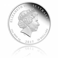 Austr. Lunar Hahn 1 Kg Silber Polierte Platte 2017