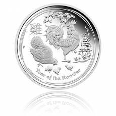 Australien Lunar Hahn  3-Coin Set Silber (2017)