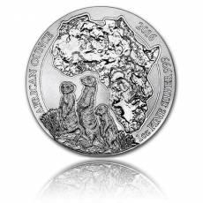 1 Unze Silbermünze 999/1000 Ruanda Erdmännchen 2016
