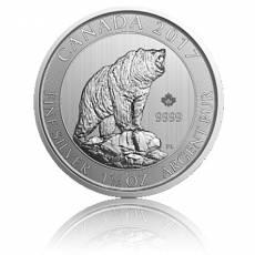 1,5 Unzen Silber Canada Grizzly 2017