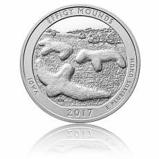 5 oz Silber US- Mint Iowa Effigy Mounds (2017)