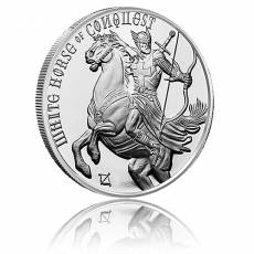 1 oz Silber Four Horsemen of the Apocalypse - White Horse of Conquest 1. Motiv