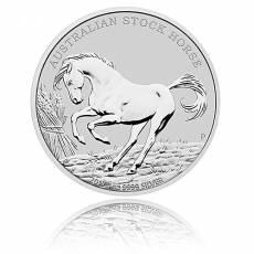 1 Unze Silber Australien Stock Horse 2017