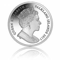 1 oz Silber Falkland Islands Britannia mit Schriftzug 2017 Reverse Proof