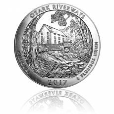 5 oz Silber US- Mint Missouri Ozark Riverways (2017)