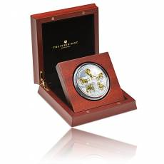 5 Unzen Silbermünze Australien Stock Horse 2017 PP/teilvergoldet