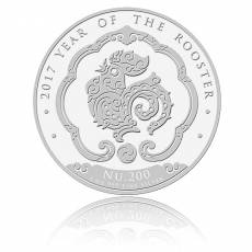 1 oz Silbermünze Kingdom of Bhutan Lunar Hahn 2017