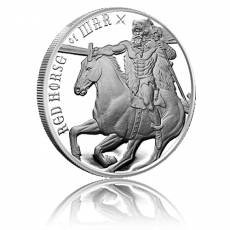 1 oz Silber Four Horsemen of the Apocalypse - Red Horse of War 2. Motiv
