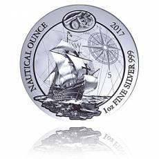 1 Unze Silbermünze Ruanda Nautical Ounce Serie - Santa Maria 2017