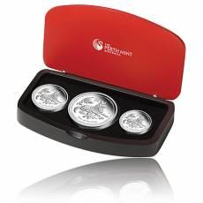 Australien Lunar Hund  3-Coin Set Silber (2018)