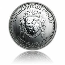 1 kg Silbermünze Silberrückengorilla Kongo (2017)