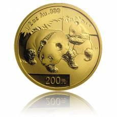 China Panda 1/2 Unze Gold (2008) in orginal Folie