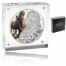 1 Unze Silbermünze Star Wars PP The Last Jedi Chewbacca 2017 zweites Motiv